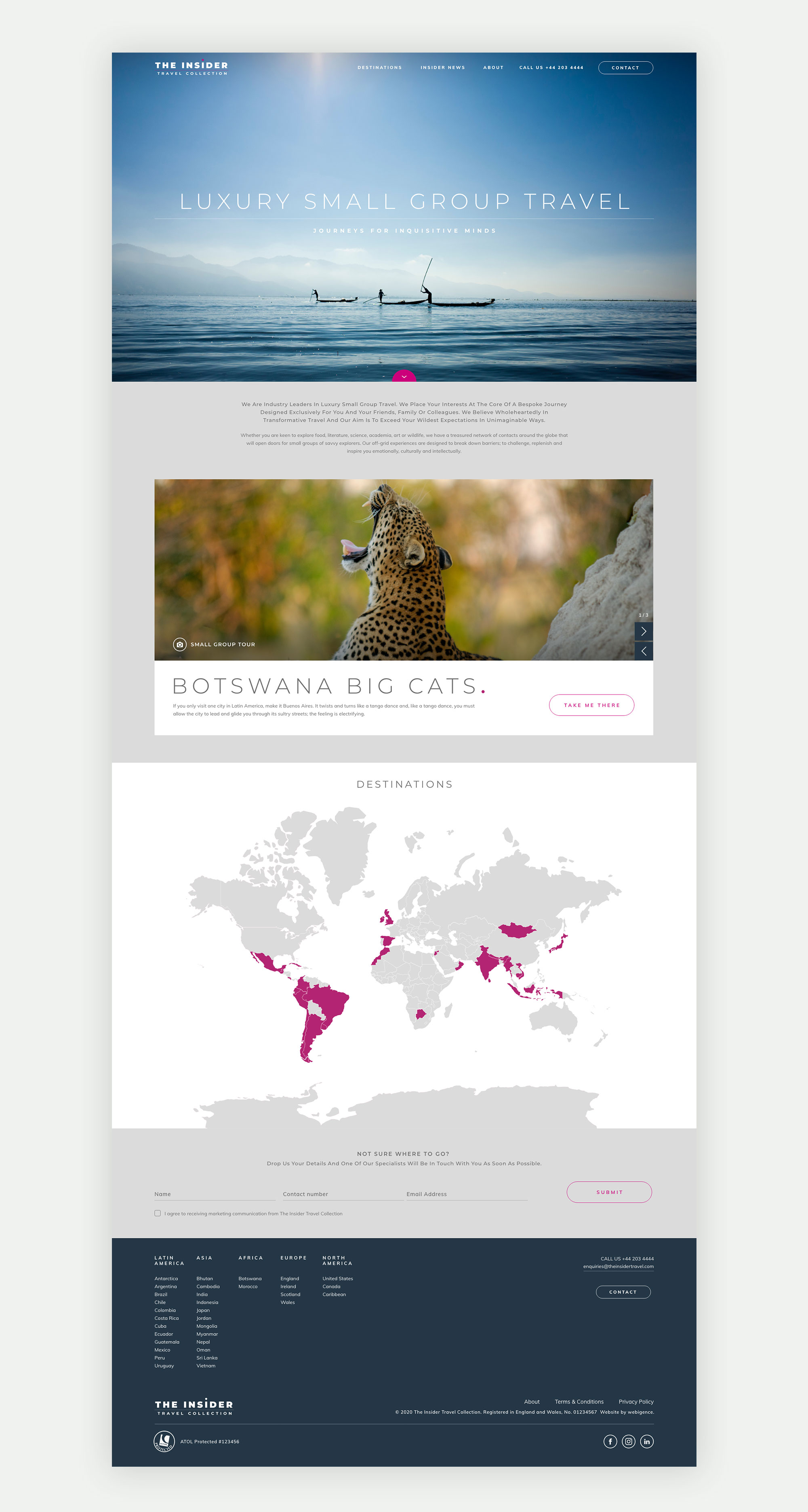 Insider Travel Collection homepage UX