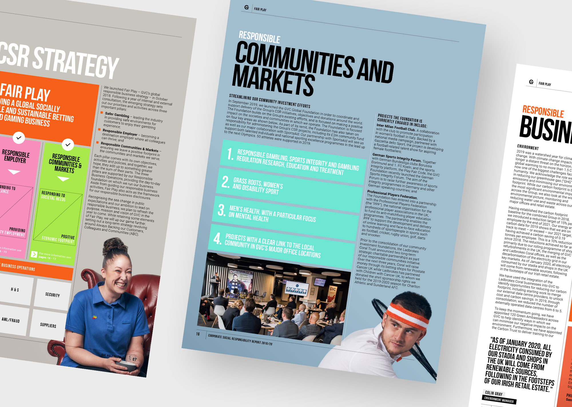 GVC CSR report communities