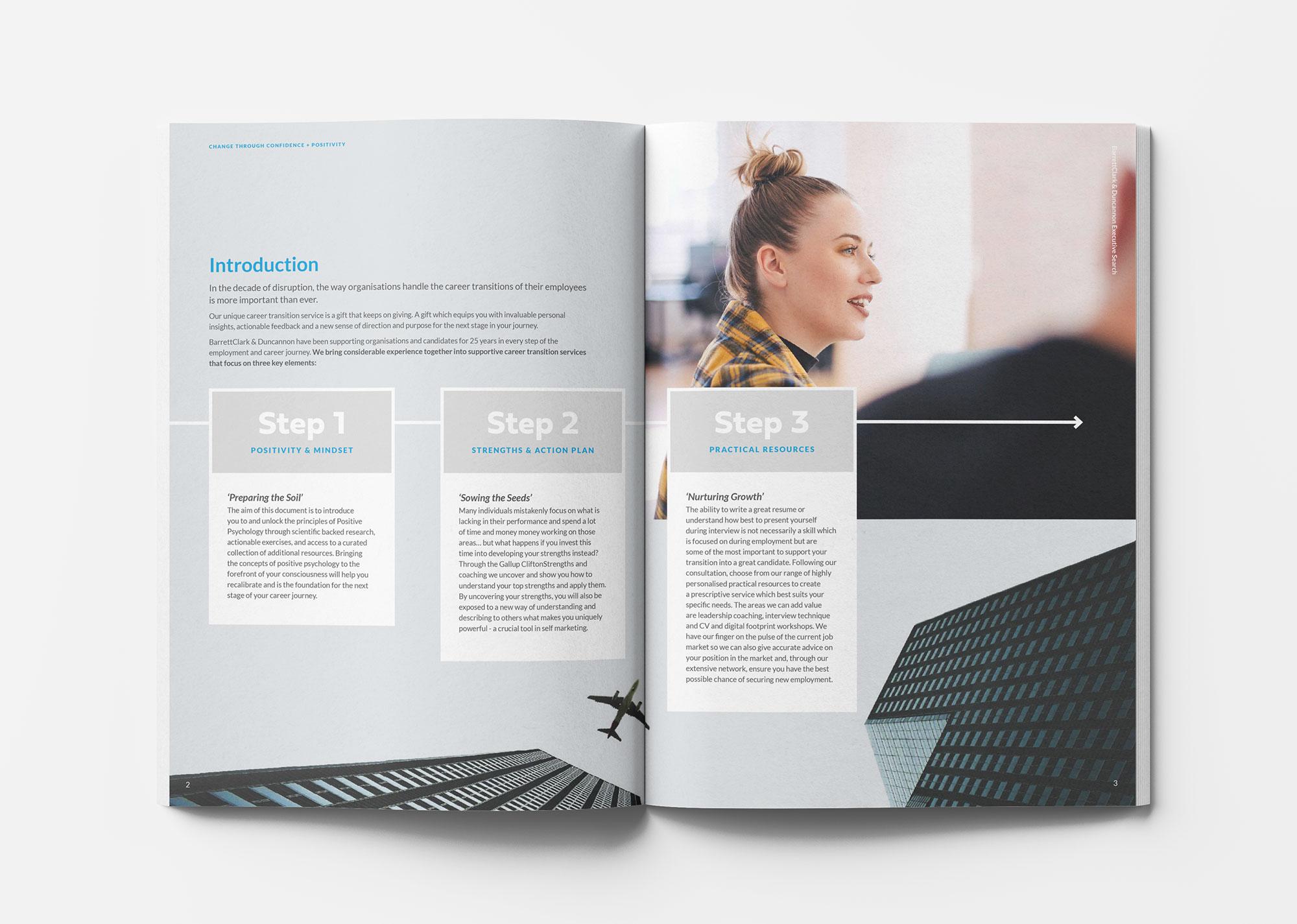 BarrettClark & Duncannon outplacement brochure spread 1