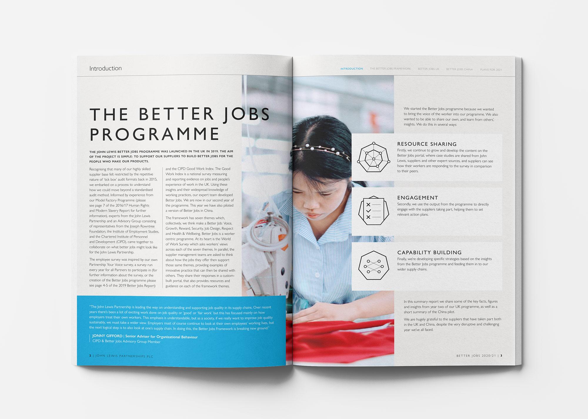 John Lewis Better Jobs report spread 1