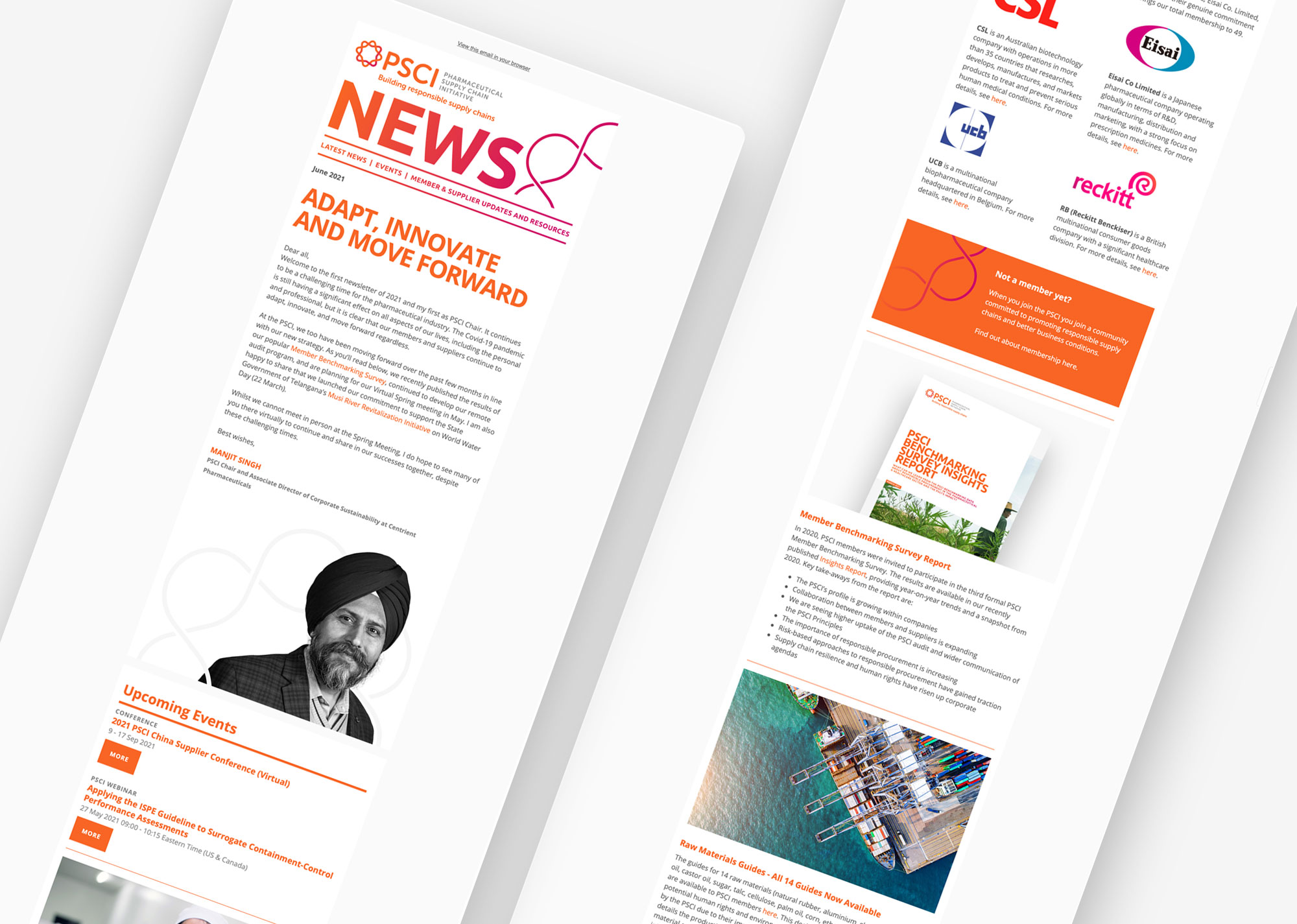 PSCI mailchimp newsletter template
